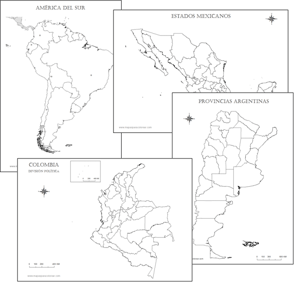 Mapas Para Colorear