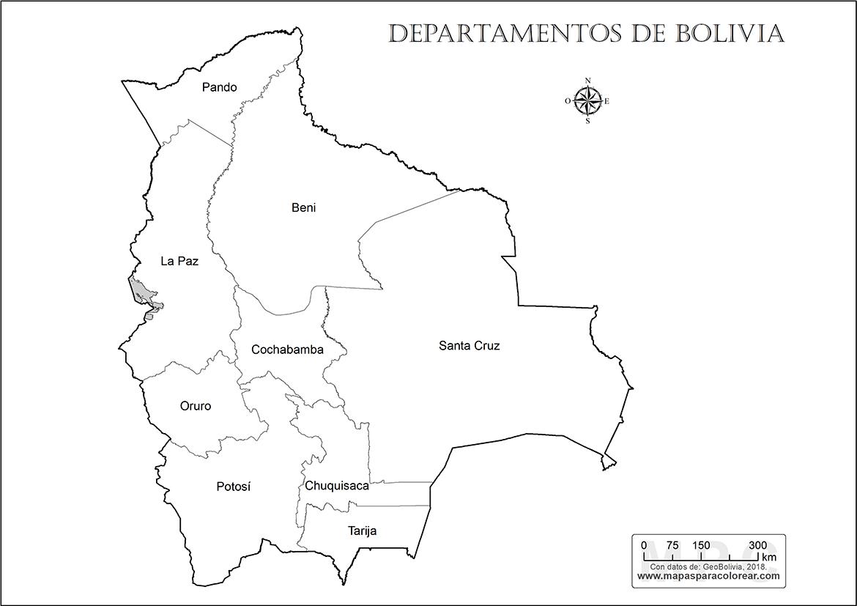 Mapa De Departamentos De Bolivia Para Colorear