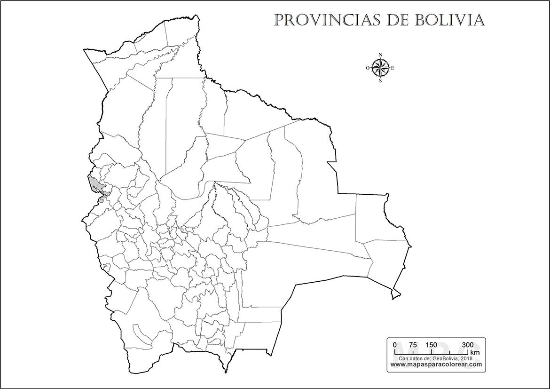 Mapas de Bolivia para colorear