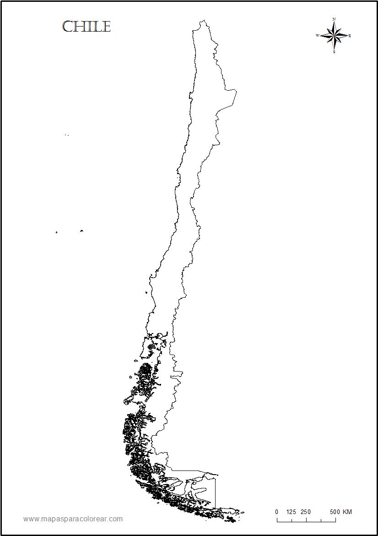 De chile para colorear contorno del mapa de chile para colorear sciox Choice Image