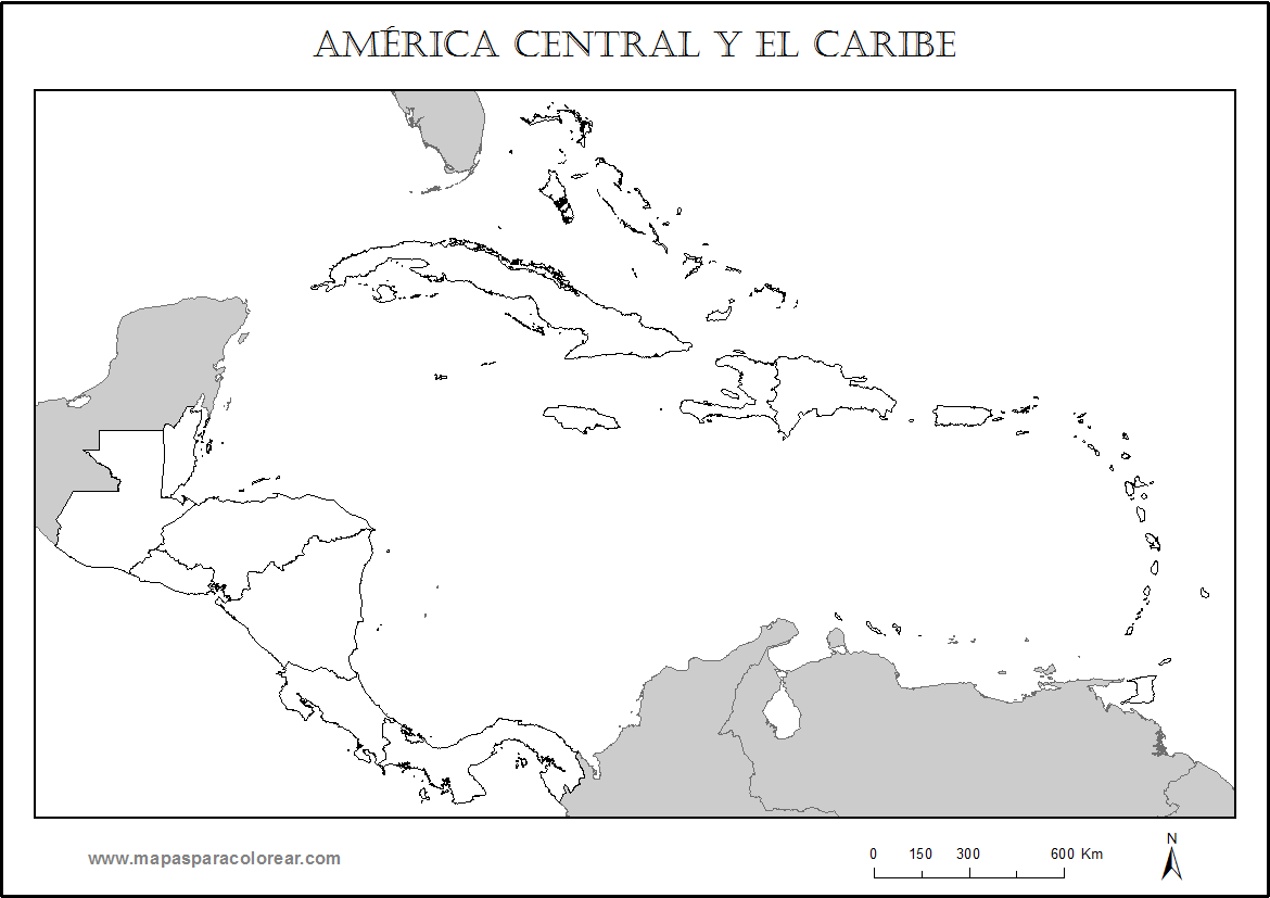 Mapas De Americas Norte Sur Central Para Colorear