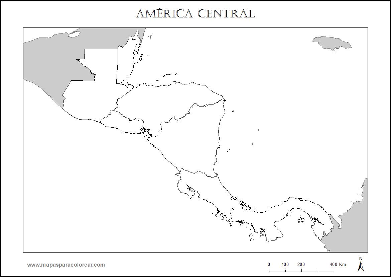 Mapa De America Central En Blanco Para Completar Con Nombres De Los Paises Y Colorear