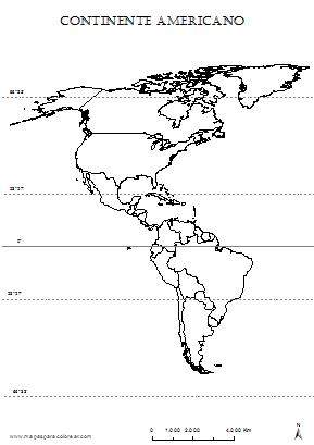 Mapas De Américas Norte Sur Central Para Colorear
