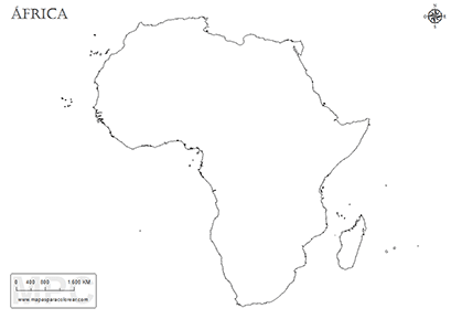 Mapas De áfrica Para Colorear
