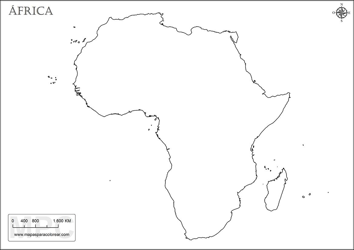 Mapa Africa Sin Nombres.Mapas De Africa Para Colorear