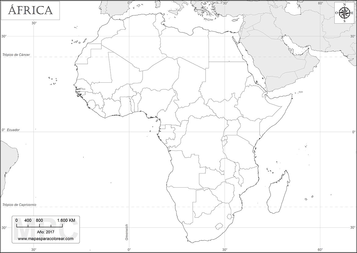 Mapa De Africa Vacio.Mapas De Africa Para Colorear