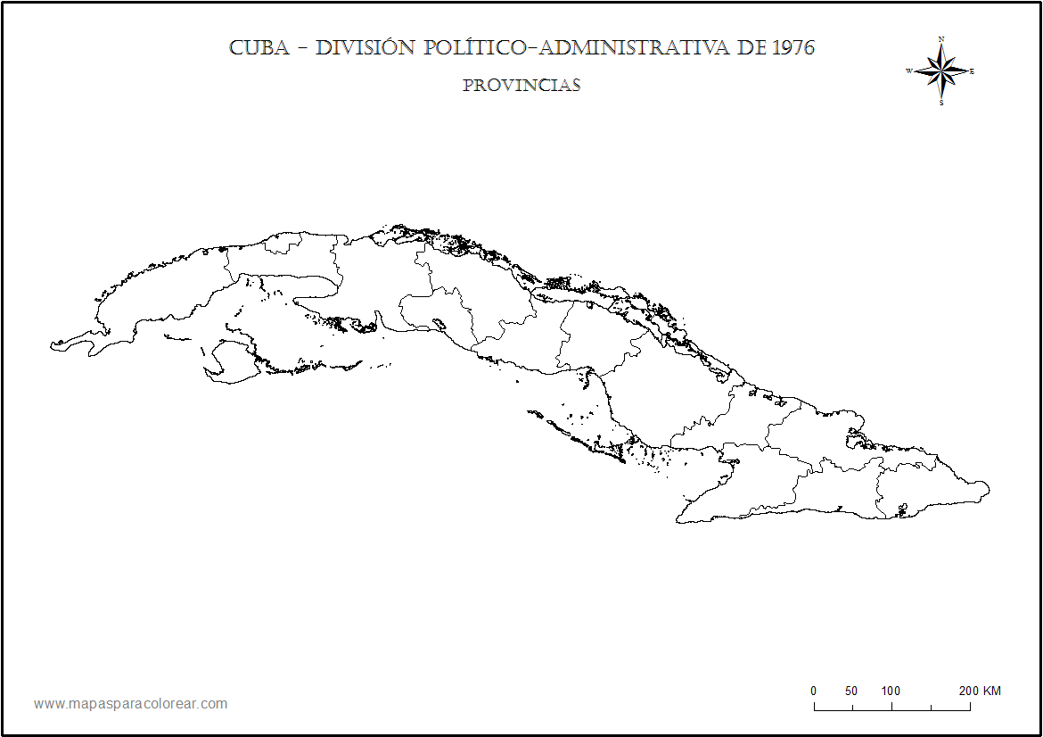 It is a picture of Resource Printable Map of Cuba