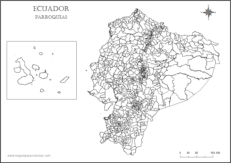 Mapas del Ecuador para colorear