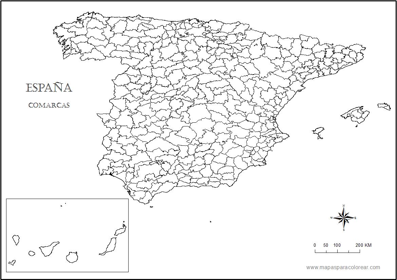 Mapa De Espana Para Colorear