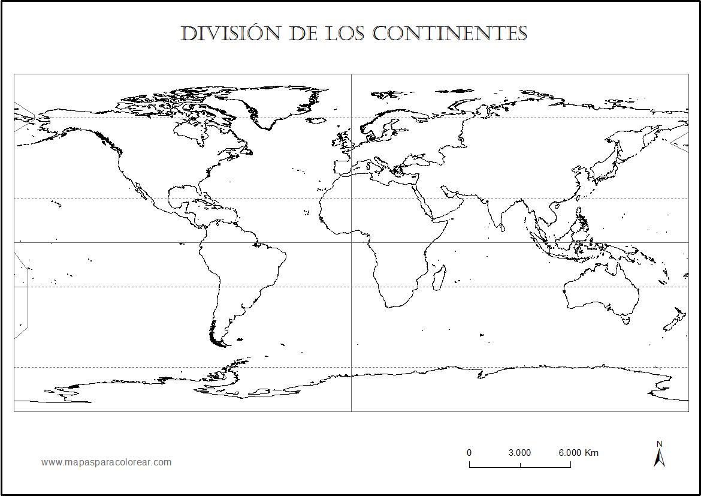 Mapamundi Para Colorear