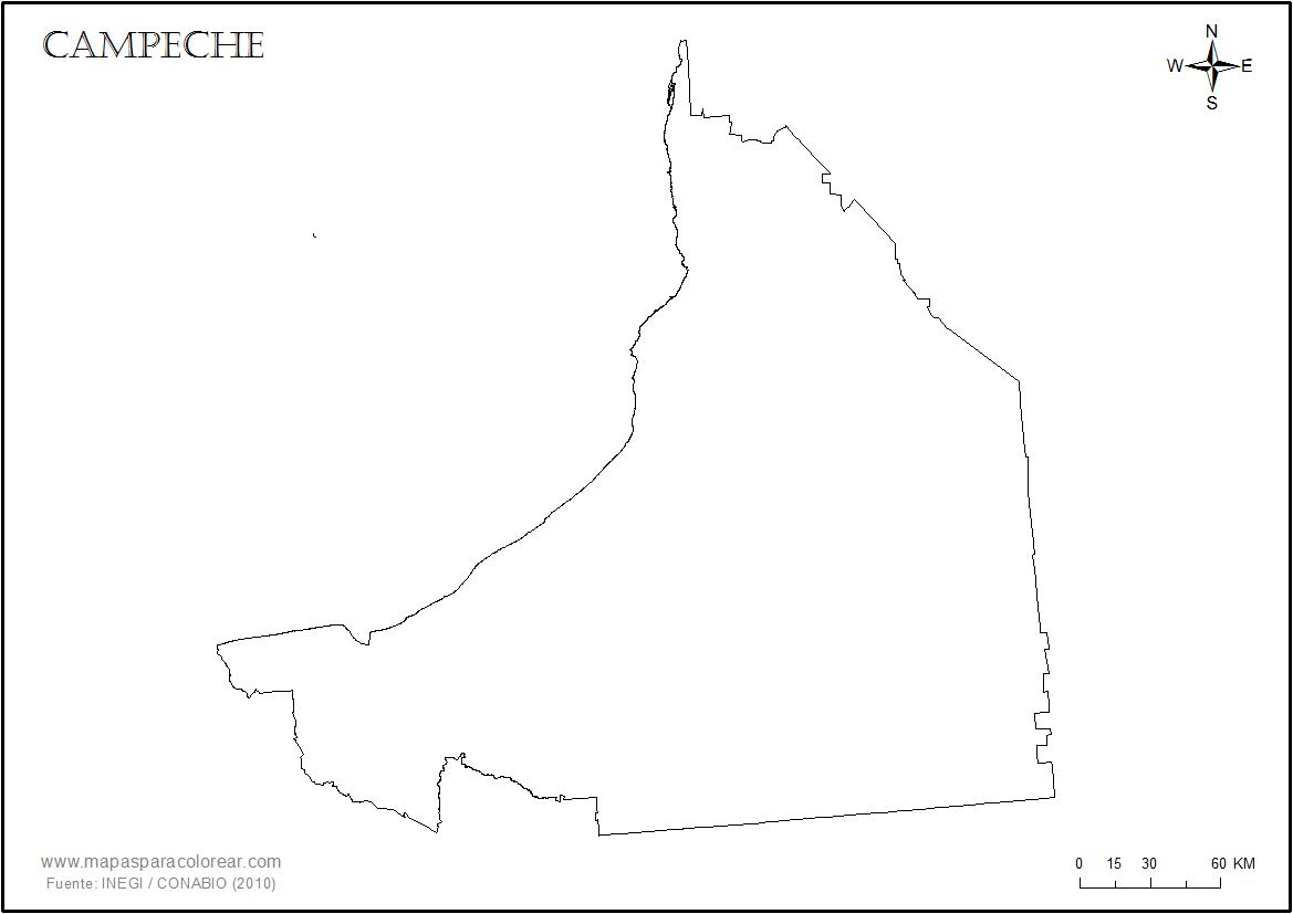 Mapas De Campeche Para Colorear