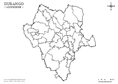 Mapas De Durango Para Colorear