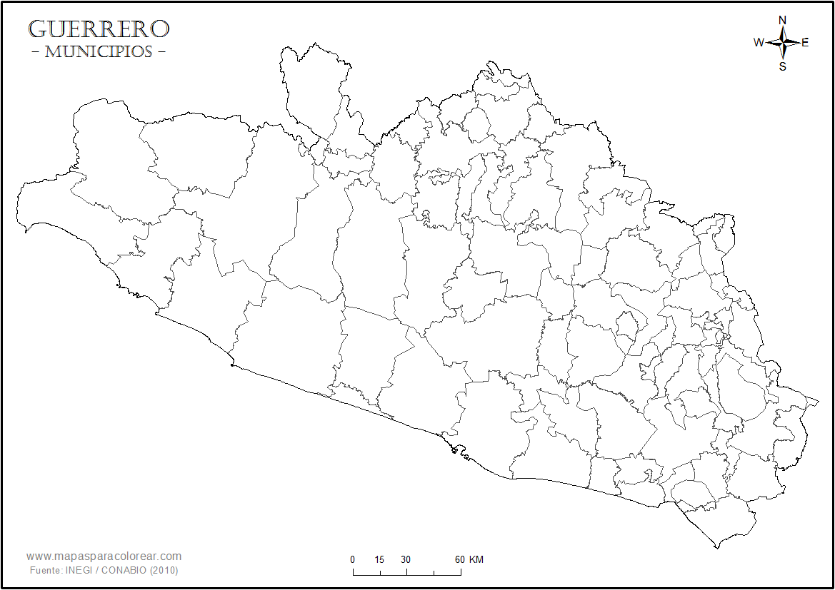 Mapas De Guerrero Para Colorear