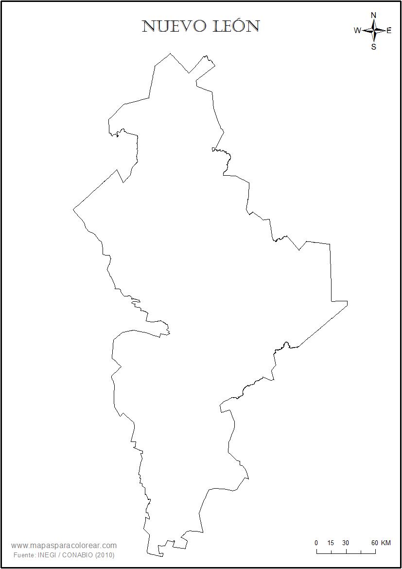 Mapas De Nuevo León Para Colorear