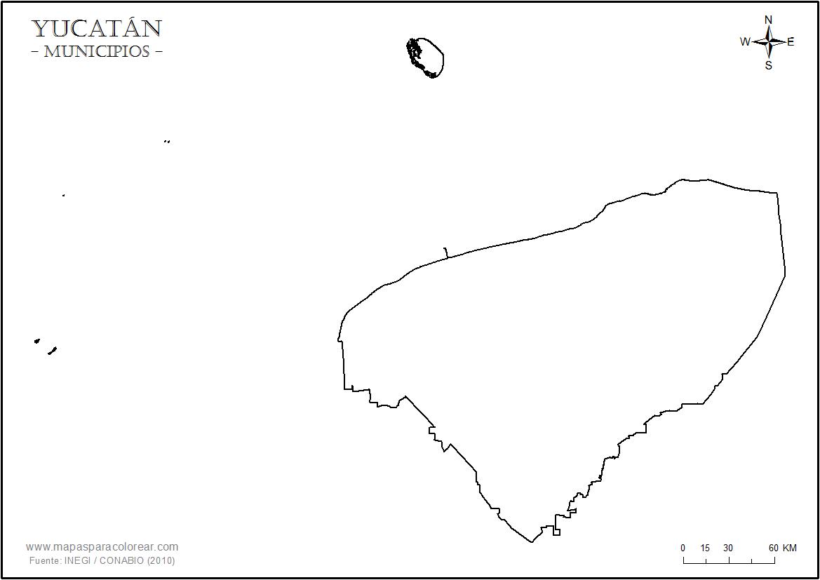 Merida Para Colorear: Mapas De Yucatán Para Colorear