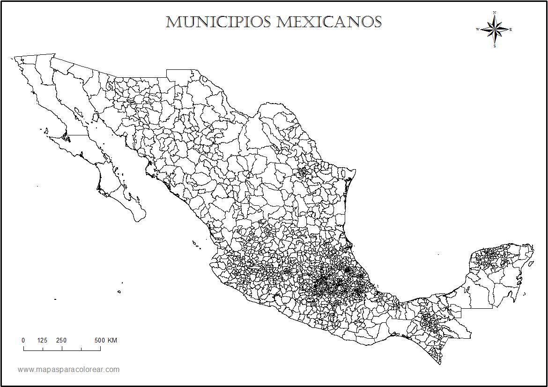 Mapa de Mexico Por Estados y Municipios Mapa de México Por Municipios