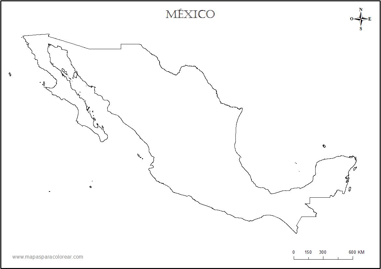 PARA MIS TAREAS: MAPA DE MÉXICO