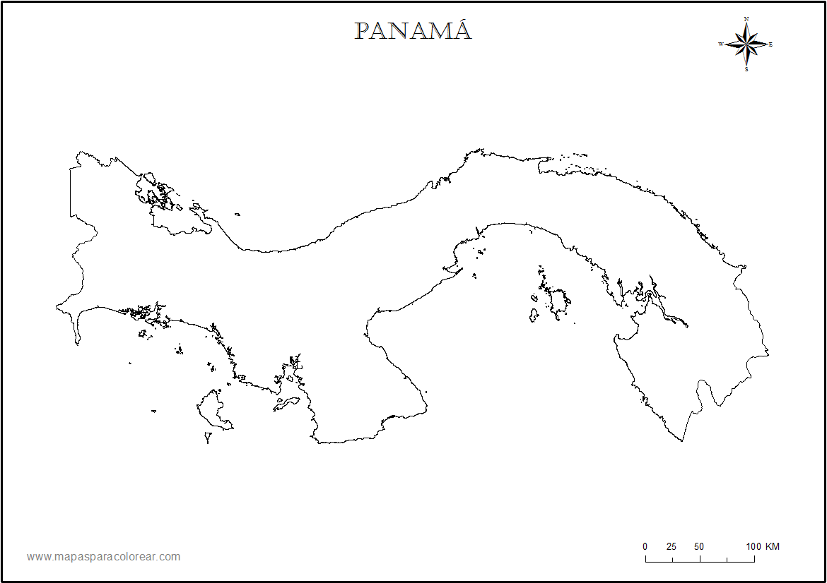 Mapa Panama on africa coloring pages