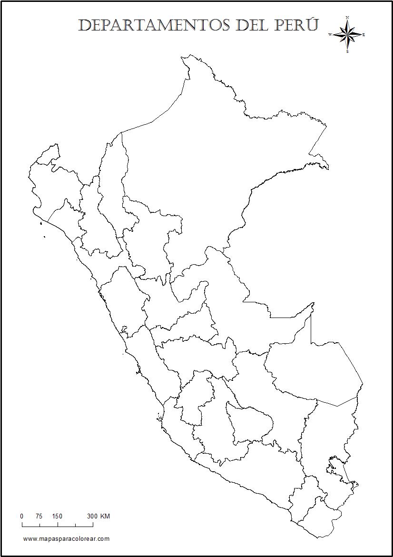 Mapas Del Peru Para Colorear