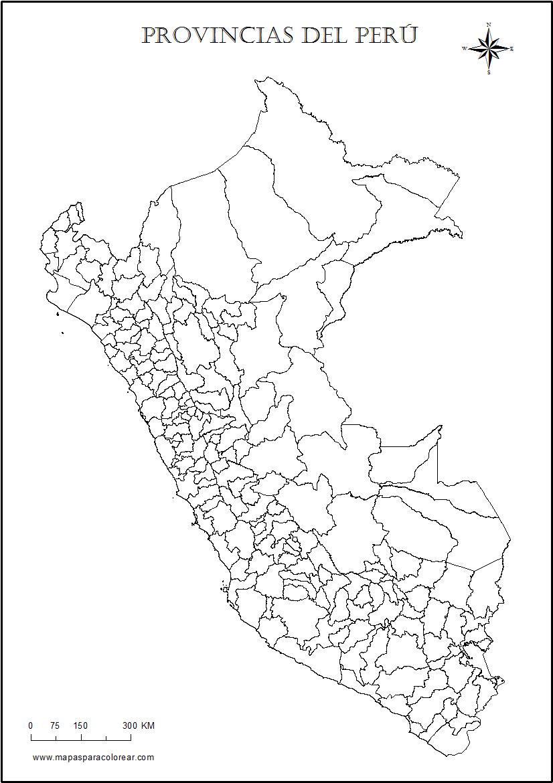 Mapas del Per para colorear