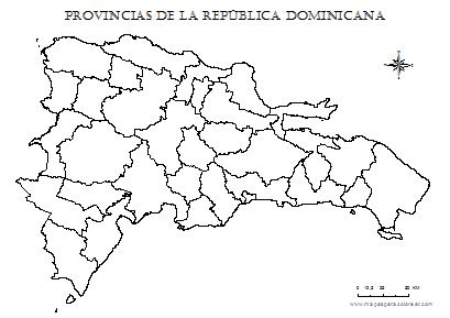 Mapa De Republica Dominicana En Blanco.Mapas De Republica Dominicana Para Colorear