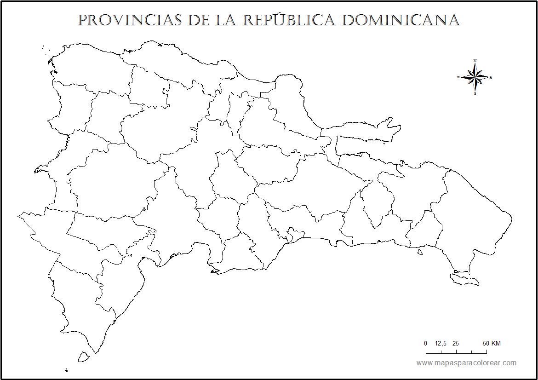 Mapas De República Dominicana Para Colorear