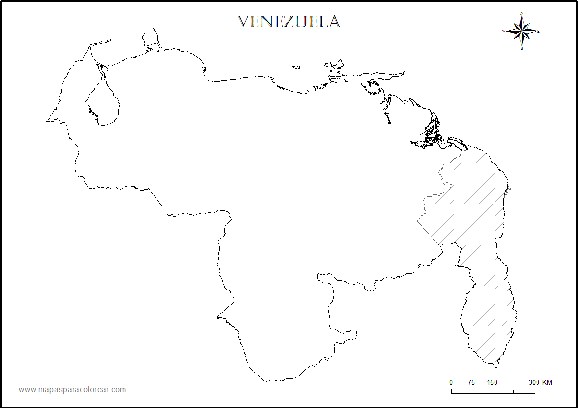 MAPAS DE VENEZUELA Colouring Pages