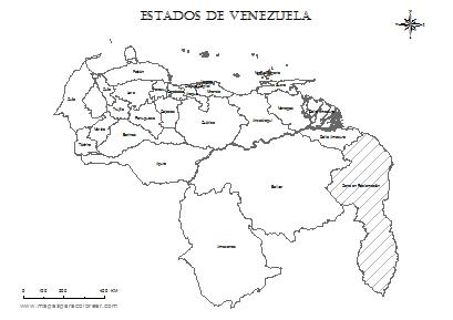 Dibujo del mapa de venezuela y sus estados - Imagui