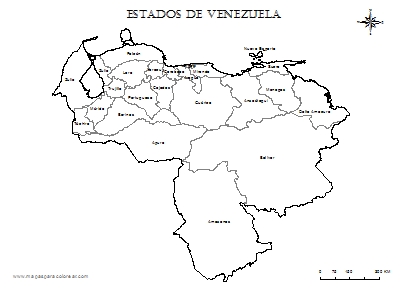 Croquis mapa Venezuela - Imagui